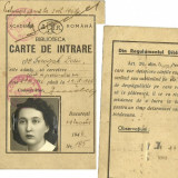 Pasaport/Document - CARTE DE INTRARE-ACADEMIA ROMANA.-1947.