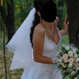 Rochie de mireasa printesa - Rochie de mireasa White Lady + bolero +voal + gentuta mireasa
