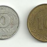 Monede 5 si 10 phennig GERMANIA