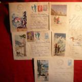 5 Plicuri Postale Ilustrate - TURISM - 1959- 1967 - Plic Papetarie