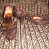 Pantofi dama, 35 1/3, Coffee - Pantofi Audrey Hepburn