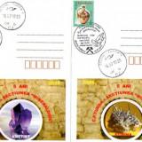 2 cărţi poştale Minerale - Fosila roca