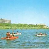 Carti Postale Romania dupa 1918 - CP208-67 Eforie Nord: Vedere de pe lac -carte postala circulata 1981-starea care se vede