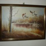 PICTURA ORIGINALA CU RAMA LEMN - Pictor roman