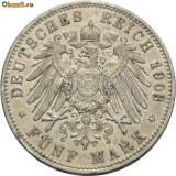 Moneda Medievala, Europa - WILHELM II 1888---1918. 5 MARK ARGINT 1903 A 3