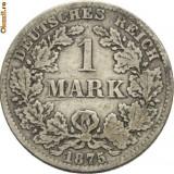 Moneda Medievala, Europa - WILHELM I 1871---1888. 1 MARK ARGINT 1875 B