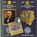 Monede Romania, An: 2003 - BNR 500 lei 2003, Centenarul Societatii numismatice Romane, argint 27 grame