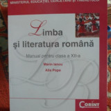 Manual Limba romana clasa XII-a - Manual scolar corint, Clasa 12, Corint
