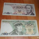 Lot 2 bancnote Polonia 50 si 100 zloti RAR