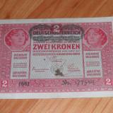 Bancnota Austro-ungaria 2 coroane 2 kronen RAR
