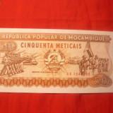 Bancnota 50 Meticais 1986 Mozambic, cal.NC