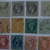 Romania timbre carol emis.Paris, Bucuresti I si II - Timbre Romania, Stampilat