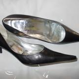 Pantofi dama din piele naturala, noi, marca Via Montenapoleone nr 40