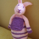 Handmade - Decor Paste - iepure tricotat