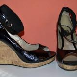 Sandale dama, 37 1/3, Fuchsia - Sandale de piele cu talpa
