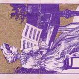 ETICHETA RECLAMA TIMISOARA 8X16 CM ANII 1914-1920 OSDV;1