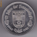 Medalie jubiliara, Canada-Germania, medicina, GERMAN CANADIAN HARMONY CLUB-MEDICINE HAT, 1960-1985