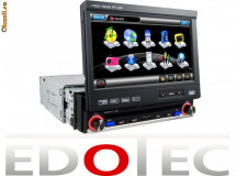 DVD 1 DIN RETRACTABIL NAVIGATIE GPS BLUETOOTH IPOD TV TOUCHSCREEN RADIO foto