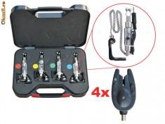 Avertizor pescuit Baracuda, Electronice - Set 4 swingere luminoase+4 avertizoare TLI03- Baracuda
