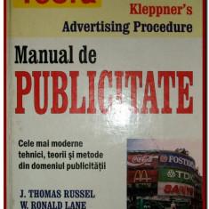 JT Russel, WR Lane - Manual de publicitate, Kleppner - Carte de publicitate