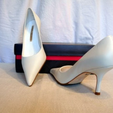 Pantofi dama Buffalo, Alb - Pantofi piele, albi, Buffalo(781-62 WHITE) REDUCERE EXCEPTIONALA DE PRET