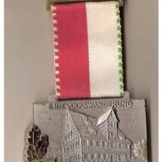 Medalii Romania - CIA 163 Medalie heraldica(caruta cu butoaie, probabil de bere) - interesanta -(germana)