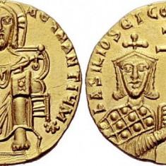 Moneda aur -Basil I the Macedonian, 867 – 886