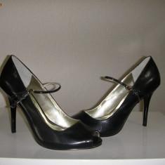 LICHIDARE STOC ! Pantofi dama Marciano by GUESS ORIGINALI noi Sz 40 piele ! - Sandale dama Guess, Culoare: Negru, Piele naturala