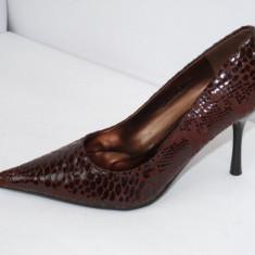 Pantofi dama, Maro - Pantofi de gala, pentru femei, maro, - (CHIARA 8815-8 brown) REDUCERE EXCEPTIONALA DE PRET