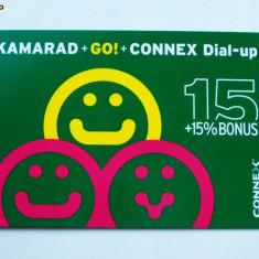 CARTELA ROMANIA CONNEX KAMARAD + GO 15 USD + 15 % DE COLECTIE ** - Cartela GSM
