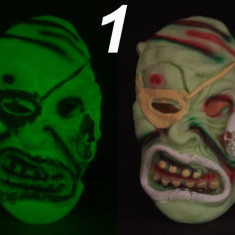 Costum Halloween - Masca glow fosforescenta, lumineaza in intuneric, gama diversificata