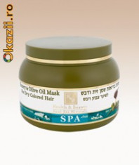 Masca de par cu miere si ulei de masline pentru par vopsit H&B Dead Sea