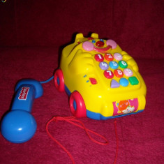 Fisher Price - Telefon clasic de tras multifunctional - Limba germana