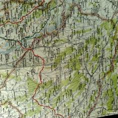 Harta Turing Clubul Roman - interbelica - nr 19 - Chisinau - Orhei - Husi