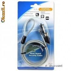 Cablu Notebook securitare Kensington pentru Laptop LKCP-0093 4 DIAL COMBINATION SILVER - NOU
