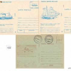 CP (Carti postale) si plicuri : Nave / RSR - Necirculate / Lot 5 buc. / F154