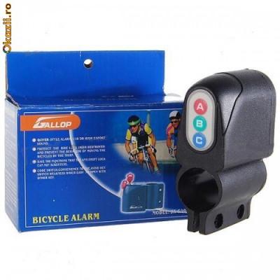 Alarma bicicleta scuter ultima generatie si claxon foto