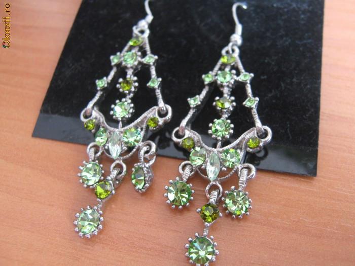 Bijuterii din inox cu pietre verzi foto mare