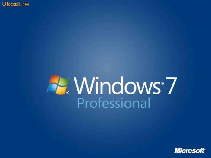 Windows 7 Professional  LICENTA foto mare