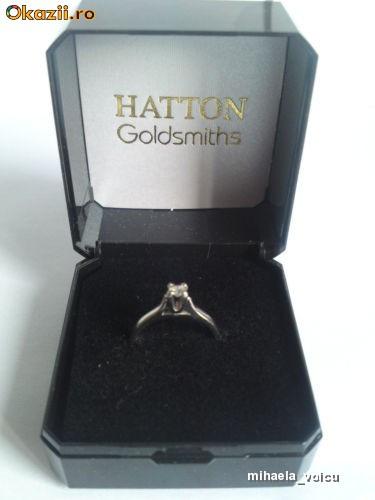 Inel cu diamant HATTON Goldsmiths , Anglia- o.10 carate OFERTA !!! foto mare