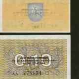 Bnk bn lituania 0.10 talonas 1991 unc