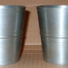 Metal/Fonta - 2 pahare din zinc marcat