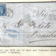 RRR CIRCULTIE 1873 {CAROL PARIS } GALATI-- BRAILA