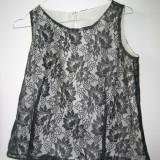 Bluze elegante, cu maneca scurta - Bluza dama, Marime: 42, Culoare: Bleumarin, Gri, Maro, Universala, Bumbac