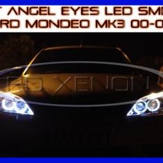 KIT INELE ANGEL EYE EYES CU LED SMD - FORD MONDEO MK3 2000-2007 ZDM, Universal