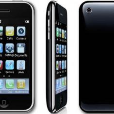 Telefon mobil, Negru, Neblocat, Touchscreen, Android OS - DualSIM QuadBand Iphone Replica I9+++ Negru