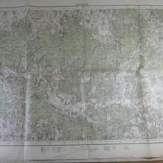 Harta Romaniei - 27 - HARTA MILITARA - ZONA SAVARSIN - INTOCMITA DE SERVICIUL GEOGRAFIC AL ARMATEI 1926 - REPRODUSA DUPA HARTA AUSTRIACA