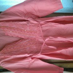 Bluza dama, Marime: 44, Maneca 3/4, Universala, Corai, Bumbac - BLUZA GEN IE-BASIC LINE-MAR L