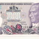 LL bancnota Turcia 1000 lire