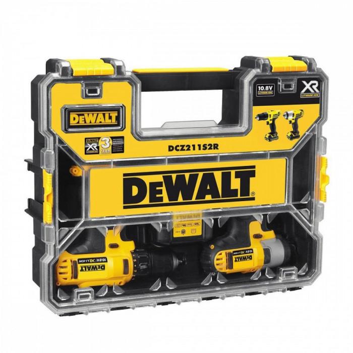 DeWalt DCZ211S2R 10,8 V  2 x 1.5ah Li-Ion DEWDCZ211S2R foto mare
